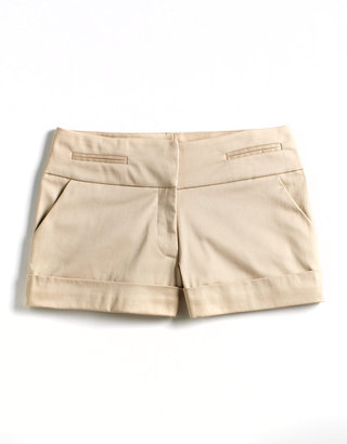LOVE ADY Sateen Flat-Front Shorts