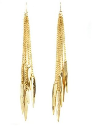 Charlotte Russe Shoulder Duster Leaf Earrings