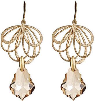 Alvina Abramova Beige Crystal-Drop Reese Earrings