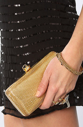 *MKL Accessories The Wired Skull Clutch in Gold