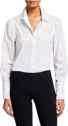JONATHAN SIMKHAI STANDARD Pleated-Cuff Button-Down Shirt