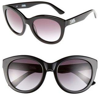 Cat Eye Karl Lagerfeld Sun Karl Lagerfeld 53mm Sunglasses