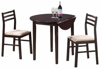 EveryRoom Drop Leave Dining Table - Brown (Set of 3)