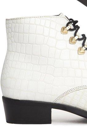 Bronx Faux Crocodile Leather Boot