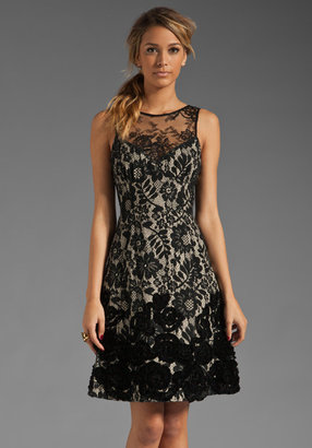 Tracy Reese Dreaming Lace Jacquard Applique Frock Dress