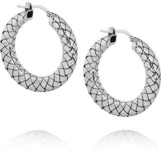Bottega Veneta Intrecciato silver hoop earrings