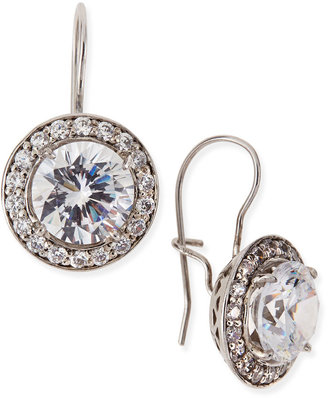 FANTASIA Antique-Inspired Round Cubic Zirconia Earrings