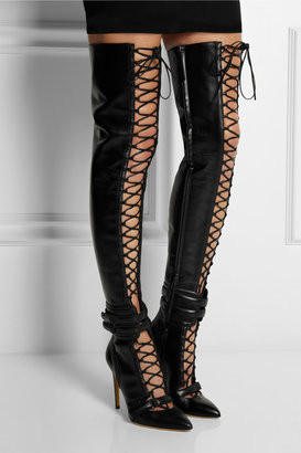 Antonio Berardi + Rupert Sanderson Crimea leather over-the-knee boots