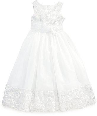 Bonnie Jean Girls' Bonaz-to-Organza Communion Dress