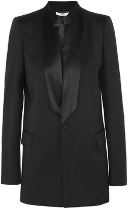 Givenchy Black Light Wool Jacket With Satin Details