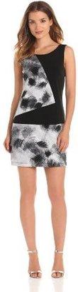 Max & Cleo Women's Sleeveless Print Colorblock Dress