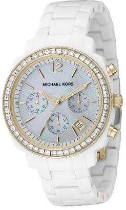 Michael Kors Women's MK5187 White Gold Glitz Watch