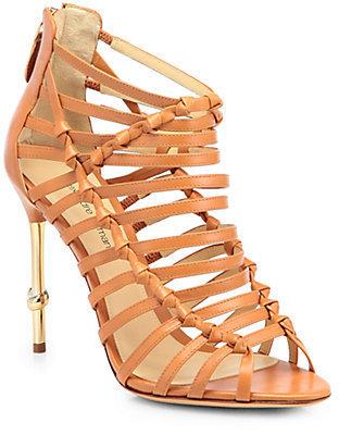 Alexandre Birman Strappy Leather Sandals