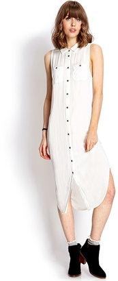 Forever 21 Sleeveless Shirtdress