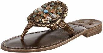 Jack Rogers Women's Georgica Morocco Flat Thong Sandal