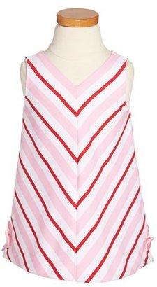 Luli & Me Stripe Dress (Toddler Girls)