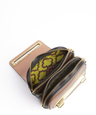 Oryany teal multi-color embossed accent pebbled leather 'Croco Nora' crossbody bag