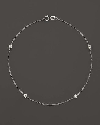 Bloomingdale's Diamond Bezel Ankle Bracelet Set In 14K White Gold, .20 ct. t.w. - 100% Exclusive