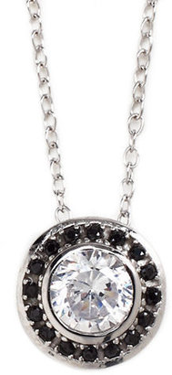 Lord & Taylor Sterling Silver & Cubic Zirconia Pave Halo Necklace