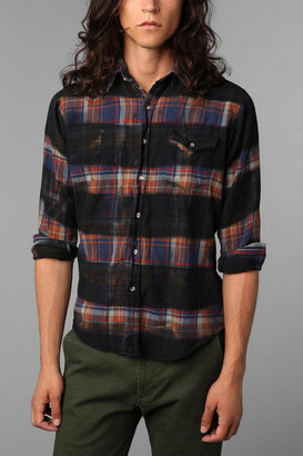 Urban Outfitters Urban Renewal Printed Stripe Flannel Shirt