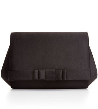 La Regale Black Bow Tie Clutch