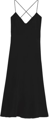 Tibi Solid Silk Strappy Dress
