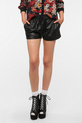 Urban Outfitters Lucca Couture Perforated Faux Leather Runner Short
