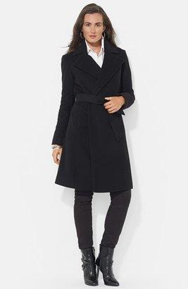 Women's Lauren Ralph Lauren Wool Blend Wrap Coat $360 thestylecure.com
