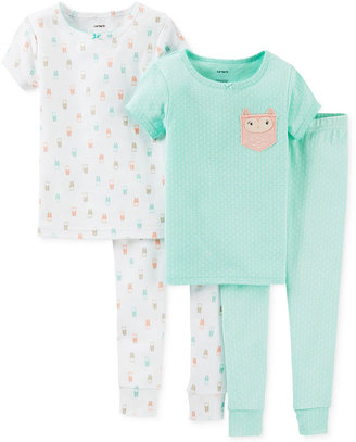Carter's Baby Girls' 4-Piece Owl Pajamas