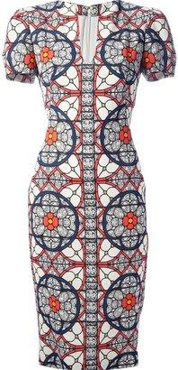 Alexander McQueen stained glass print dress