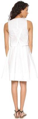 Tibi Poplin Sleeveless Pleat Dress