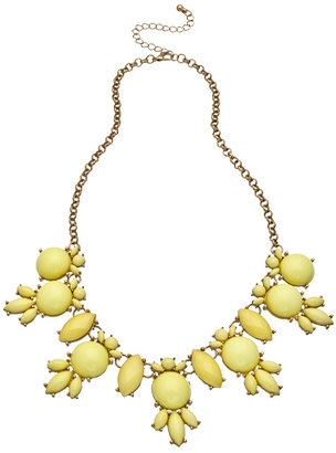 Blu Bijoux Gold and Yellow Bubble Necklace