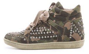 Ash Zest Studded Flat Sneakers