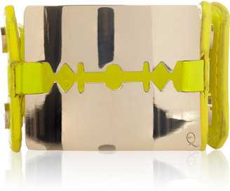 McQ Razor blade patent-leather bracelet