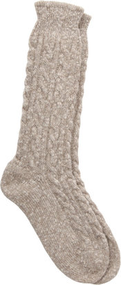 Corgi Marled Cable Knit Socks