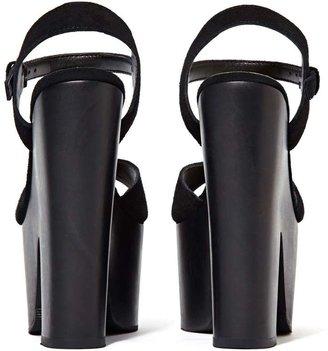 Nasty Gal Shoe Cult Too Shy Platform - Black