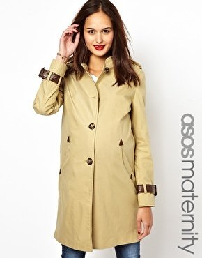 Asos Trench With Tab Detail - Beige