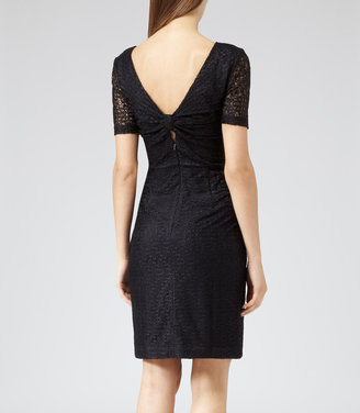Reiss Ainsley BOW BACK LACE DRESS