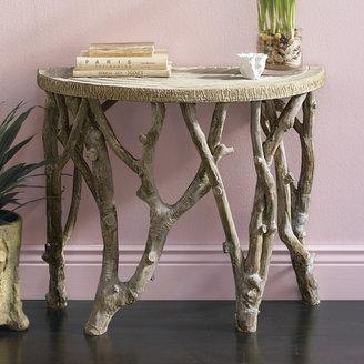 Gump's Faux Bois Demilune Table
