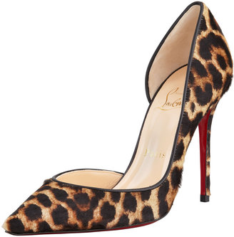 Christian Louboutin Iriza Leopard-Print Calf Hair Red Sole Pump