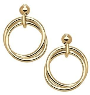 Lord & Taylor 14Kt. Yellow Gold Circle Drop Earrings