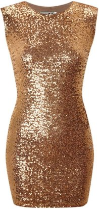 Zack John All over sequin cut out back dress