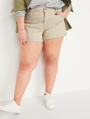 Old Navy High-Waisted Secret-Slim Pockets O.G. Straight Plus-Size Jean Shorts -- 3-inch inseam