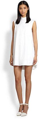 Alexander Wang Split-Back Sleeveless Cotton Shirtdress