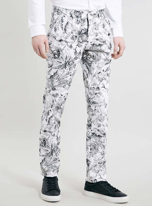 Topman Vito Paisley Dres Pants