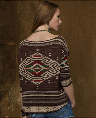 Denim & Supply Ralph Lauren Southwestern-Pattern Sweater