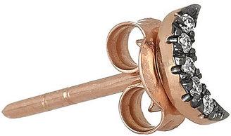 Diane Kordas Moon 18-karat rose gold diamond stud earrings