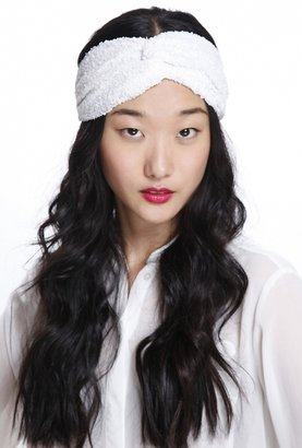 Eugenia Kim Genie by Penny Twist Turban Headband in White Lace