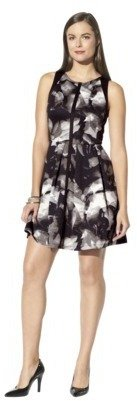 Mossimo Women's Scuba Fit and Flare Dress - Gray