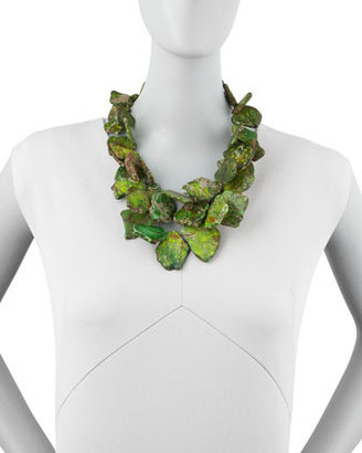 Nest Chunky Green Jasper Necklace